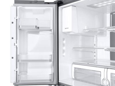 "36"" Samsung 28 cu. ft. 4-Door French Door with 21.5 in. Connected Touch Screen Family Hub Refrigerator - RF28NHEDBSR"