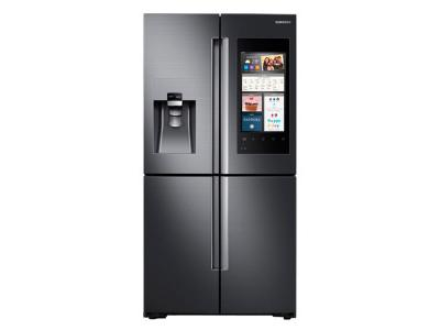 Samsung 22 cu. ft. Capacity Counter Depth 4-Door Flex Refrigerator with Family Hub - RF22M9581SG