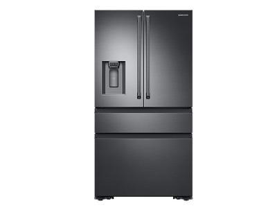 Samsung 23 cu. ft. Capacity Counter Depth 4-Door French Door Refrigerator with Polygon Handles - RF23M8090SG
