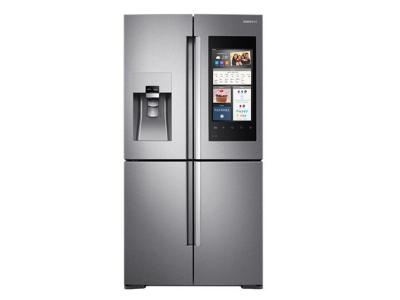 Samsung 22 cu. ft. Capacity Counter Depth 4-Door Flex Refrigerator with Family Hub - RF22M9581SR