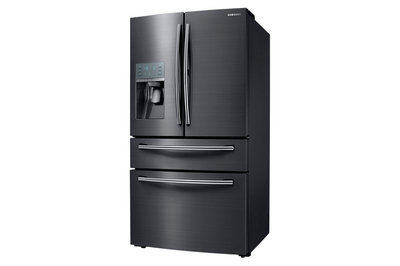 "36"" Samsung French Door  27.8 cu. ft. Black Stainless Refrigerator RF28JBEDBSG"