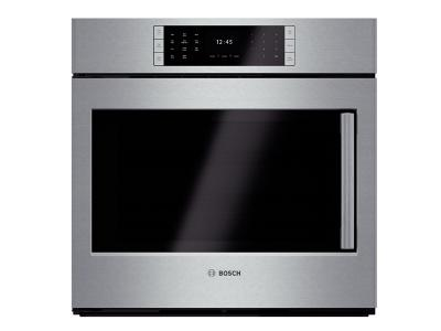 "30"" Bosch Single Wall Oven Left Swing Door Benchmark  Series - Stainless Steel HBLP451LUC"