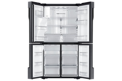 """36"""" Samsung Black Stainless 4 Door Flex with Triple Cooling system, 22.5 cu.ft. RF23J9011SG"""