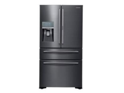 "36"" Samsung RF22K Black Stainless Counter Depth 4-Door French Door with Food Showcase, 22 cu. Ft. RF22KREDBSG"