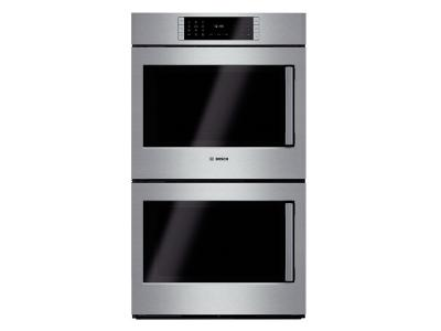 "30"" Bosch Double Wall Oven Left Swing Door Benchmark  Series - Stainless Steel HBLP651LUC"