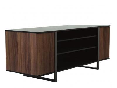 Sonora S24 Series Greenwich Style Credenza stand BLACK/WALNUT - S24V63F-N