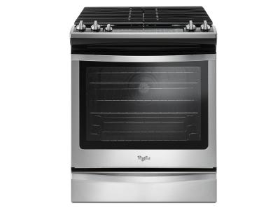 "30"" Whirlpool 5.8 Cu. Ft. Slide-In Gas Range with Center Oval Burner - WEG745H0FS"