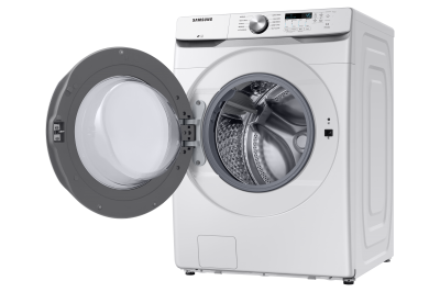 """27"""" Samsung 5.2 Cu. Ft. Front Load Washer With Shallow Depth In White - WF45T6000AW"""