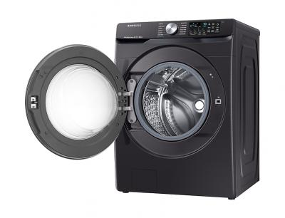 "27"" Samsung 5.2 cu. ft. Smart Front Load Washer With Super Speed In Black Stainless Steel - WF45R6300AV"