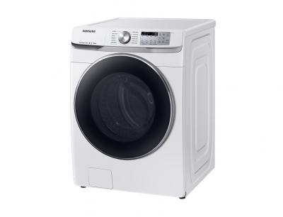 "27"" Samsung 5.2 cu. ft. Smart Front Load Washer with Super Speed in White - WF45R6300AW"