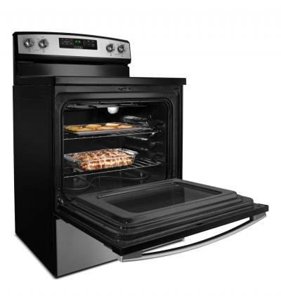"30"" Amana Electric Range with Extra-Large Oven Window - YAER6303MFW"