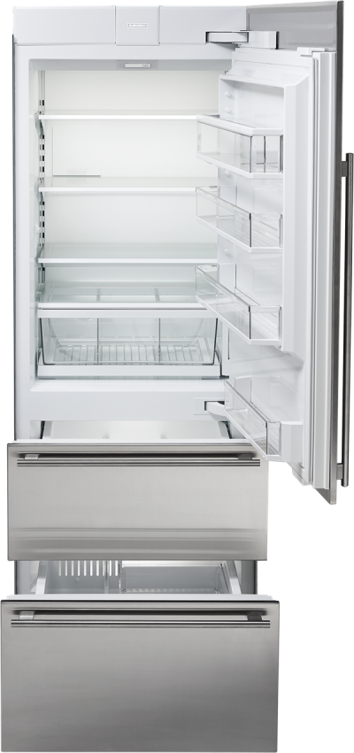 """30"""" SUBZERO  Integrated Over-and-Under Refrigerator/Freezer with Ice Maker and Internal Dispenser - Panel Ready-  IT-30CIID-RH"""