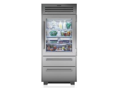 "36"" SUBZERO 36 PRO Built-In Bottom Freezer Refrigerator -  PRO3650G-LH"