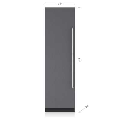 "24"" SUBZERO  Designer Column Refrigerator/Freezer Panel Ready - IC-24C-LH"