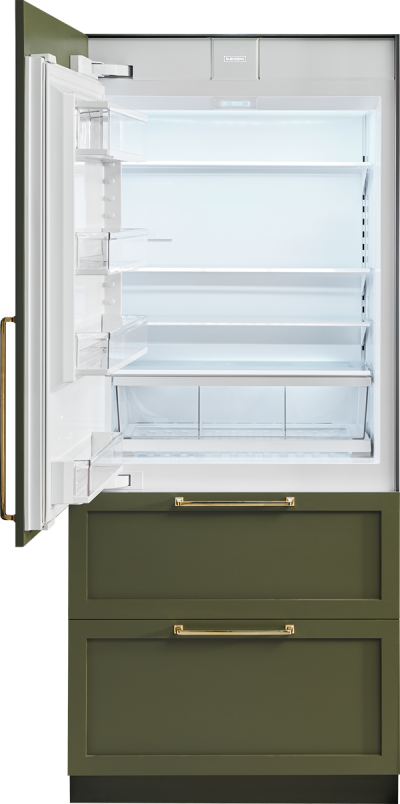 """36"""" SUBZERO Integrated Over-and-Under Refrigerator/Freezer with Internal Dispenser and Ice Maker - Panel Ready -IT-36CIID-RH"""