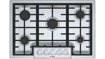 "30"" Bosch Benchmark 5 Burner Gas CooktopStainless Steel - NGMP056UC"