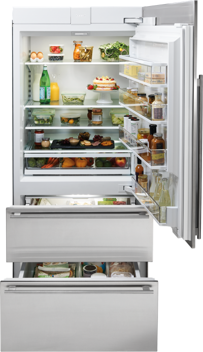 "36"" SUBZERO Integrated Over-and-Under Refrigerator Internal Dispenser - Panel Ready - IT-36RID-RH"