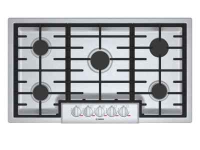 "36"" Bosch Benchmark 5 Burner Gas Cooktop Stainless Steel - NGMP656UC"