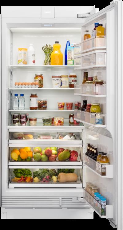 "36"" SUBZERO Integrated Column Refrigerator with Internal Dispenser - Panel Ready - IC-36RID-RH"