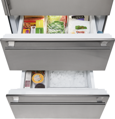 "30"" SUBZERO  Integrated Over-and-Under Refrigerator/Freezer with Ice Maker and Internal Dispenser - Panel Ready-  IT-30CIID-LH"