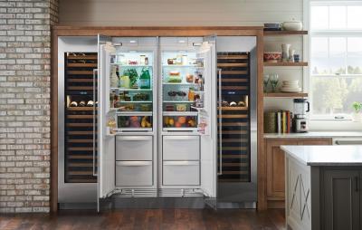 "24"" SUBZERO  Integrated Column Refrigerator/Freezer with ice maker – Panel Ready-IC-24CI-RH"