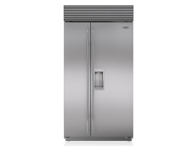 "42"" SUBZERO Built-In Side-by-Side Refrigerator/Freezer with Dispenser - BI-42SD/S/TH"