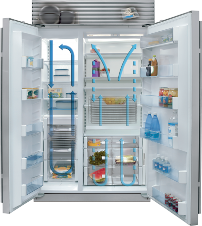"48"" SUBZERO Built-In Side-by-Side Refrigerator/Freezer - BI-48S/S/PH"