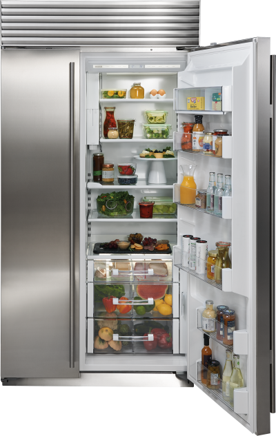 "42"" SUBZERO Built-In Side-by-Side Refrigerator/Freezer with Internal Dispenser - Panel Ready - BI-42SID/O"
