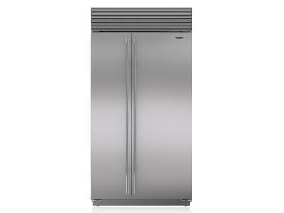 "42"" SUBZERO Built-In Side-by-Side Refrigerator/Freezer with Internal Dispenser - BI-42SID/S/PH"