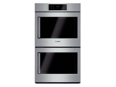"30"" Bosch Double Wall Oven Right Swing Door Benchmark  Series - Stainless Steel HBLP651RUC"