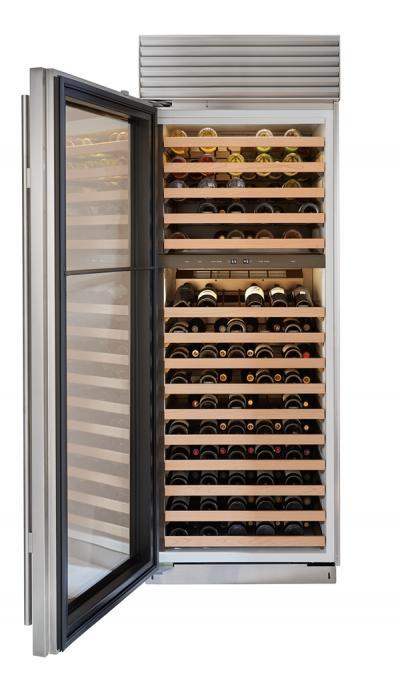 """30"""" SUBZERO Built-In Column Wine Storage - BW-30/S/PH-LH"""