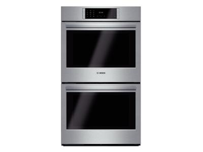 "30"" Bosch Double Wall Oven Benchmark  Series - Stainless Steel HBLP651UC"