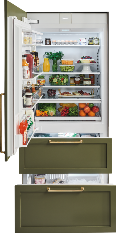 """36"""" SUBZERO Integrated Over-and-Under Refrigerator/Freezer with Internal Dispenser and Ice Maker - Panel Ready -IT-36CIID-LH"""