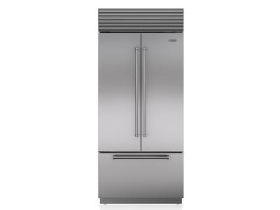 "36"" SUBZERO Built-In French Door Refrigerator/Freezer with Internal Dispenser - BI-36UFDID/S/TH"