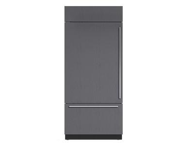 "36"" SUBZERO  Built-In Over-and-Under Refrigerator/Freezer with Internal Dispenser - Panel Ready -BI-36UIDO-LH"