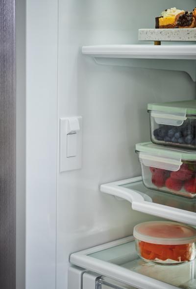 "36"" SUBZERO Built-In Over-and-Under Refrigerator/Freezer with Internal Dispenser - BI-36UID/S/PH-RH"
