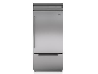 "36"" SUBZERO Built-In Over-and-Under Refrigerator/Freezer - BI-36U/S/TH-RH"