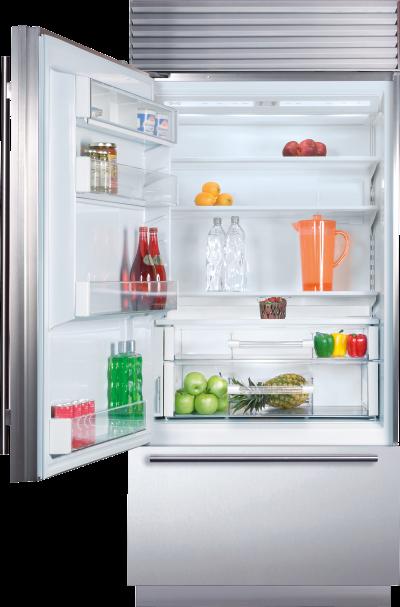 "36"" SUBZERO Built-In Over-and-Under Refrigerator/Freezer - BI-36U/S/TH-RH"