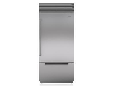 "36"" SUBZERO Built-In Over-and-Under Refrigerator/Freezer - BI-36U/S/PH-RH"