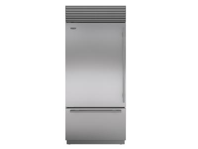 "36"" SUBZERO  Built-In Over-and-Under Refrigerator/Freezer - BI-36U/S/PH-LH"