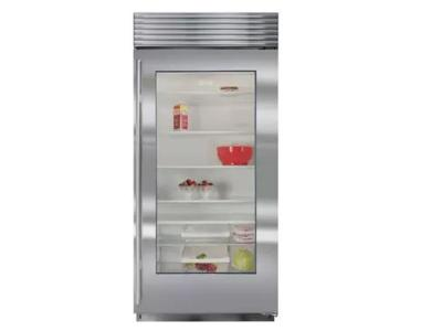 "36""  SUBZERO Built-In Glass Door Refrigerator - BI-36RG/S/TH-LH"