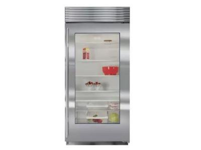 "36"" SUBZERO  Built-In Glass Door Refrigerator - BI-36RG/S/PH-RH"