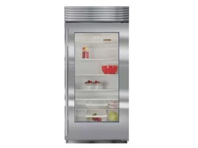 "36"" SUBZERO  Built-In Glass Door Refrigerator - BI-36RG/S/PH-LH"