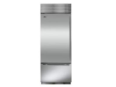 "30"" SUBZERO  Built-In Over-and-Under Refrigerator/Freezer - BI-30U/S/TH-LH"