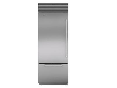 "30"" SUBZERO Built-In Over-and-Under Refrigerator/Freezer - BI-30U/S/PH-LH"