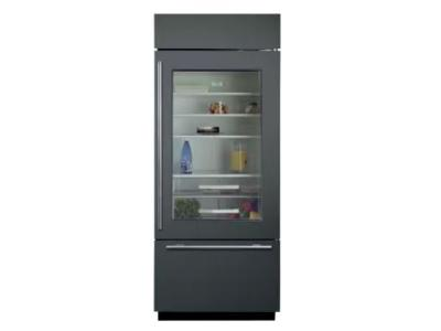 "30""SUBZERO Built-In Over-and-Under Glass Door Refrigerator/Freezer -Panel Ready - BI-30UG/O-RH"