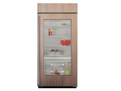 "36"" SUBZERO  Built-In Glass Door Refrigerator - Panel Ready - BI-36RG/O-RH"