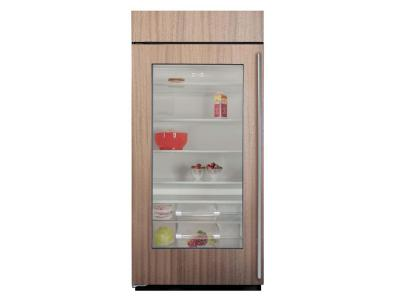 "36"" SUBZERO  Built-In Glass Door Refrigerator - Panel Ready - BI-36RG/O-LH"