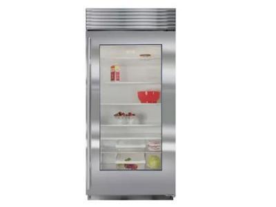 "36"" SUBZERO Built-In Glass Door Refrigerator - BI-36RG/S/TH-RH"