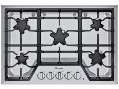 "30"" Thermador Built-in Patented Star Burners Gas Cooktop with - SGS305TS"